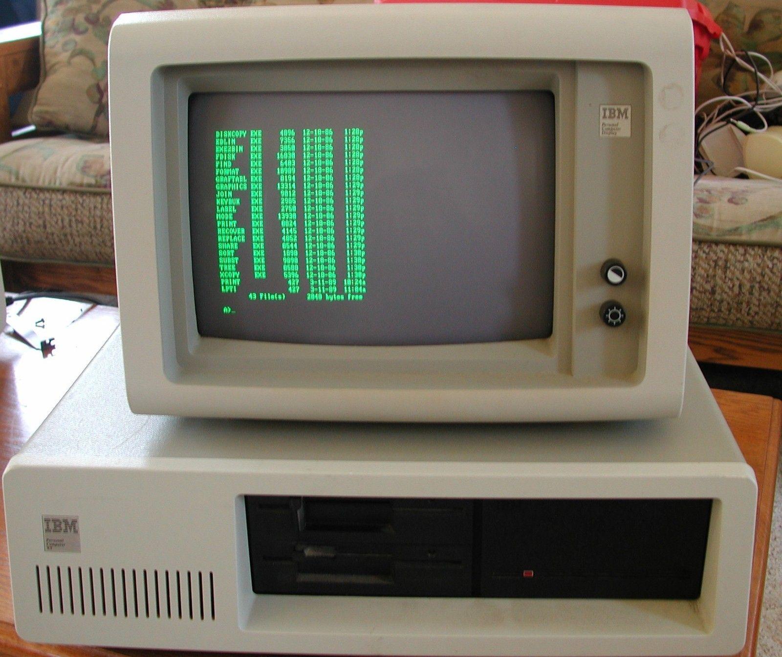 Working Vintage IBM 5160 Desktop Computer 256K 2 Floppies