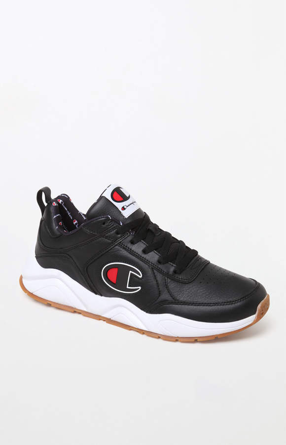 1ef9fd6eac339 Champion 93Eighteen Black Leather Shoes