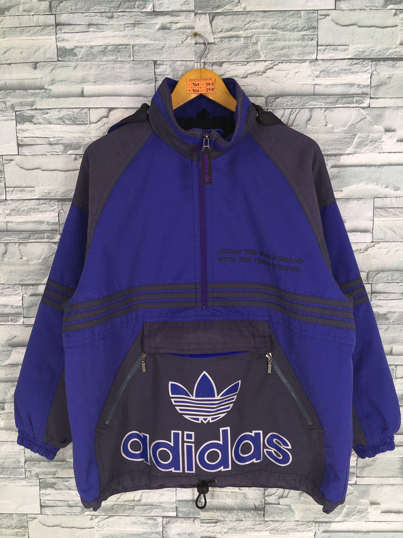 d23c3ced9 ADIDAS Anorak Jacket Windbreaker Medium Vintage Adidas Trefoil Multicolor  Adidas Hoodie Coat Sportswear Adidas Half Zip Pullover Size M by ...