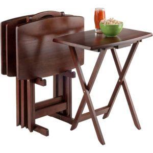 Folding Tv Tray Table Set Of 4