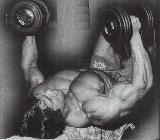 Arnold Schwarzenegger Dumbbell Flyes Arnold Schwarzenegger Bodybuilding Schwarzenegger Bodybuilding Bodybuilding Workouts Routines