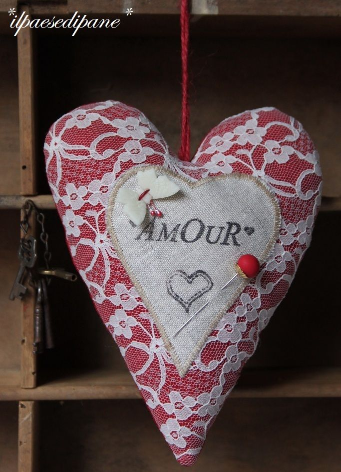 Red Heart Amour...lacy love!