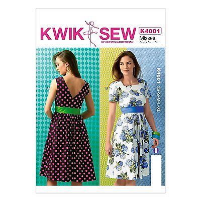 Kwik Sew 4001 Retro Vintage Style 50s 60s Summer Dress Sewing ...