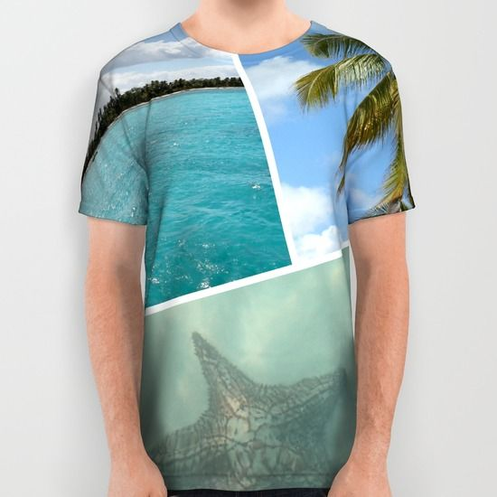 Caribbean Collage All Over Print Shirt