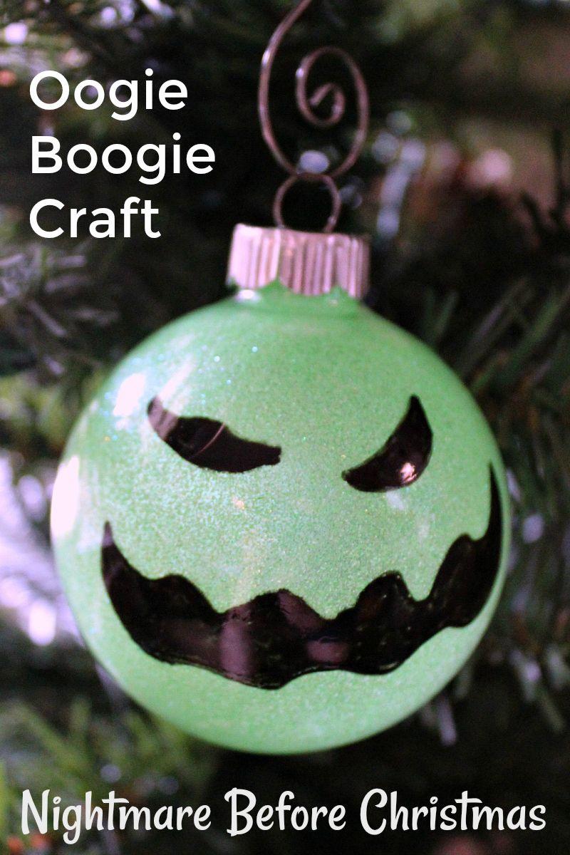 Disney Diy Oogie Boogie Ornament Craft Christmas Decorations Diy