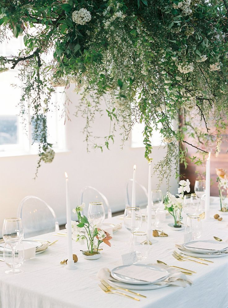 A Minimalist Wedding That Packs a Design Punch | Table settings ...