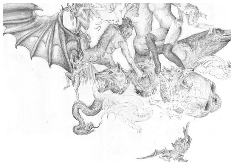 Criminal Hell vs Heaven   Heavenly Tattoo Flash ...