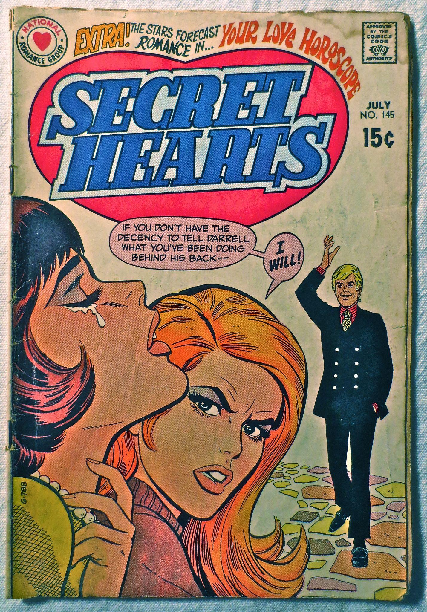 1970s Secret Hearts 1970 Vintage Comic Book Comics Vintage Comics Vintage Comic Books Old Comic Books