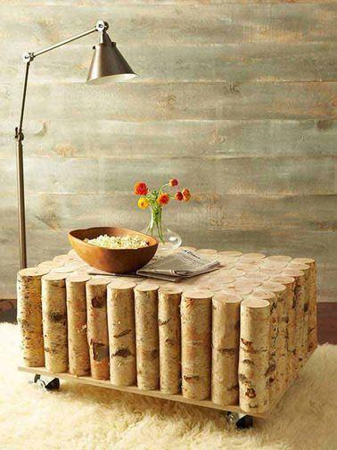 diy fabriquer des meubles dco en rondin de bois - Rondin De Bois Deco