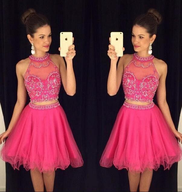 Hot Pivk Sexy Short Prom Dresses