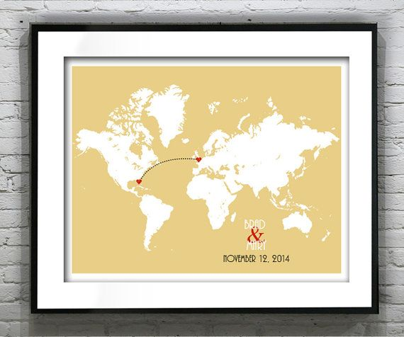 World map wedding gift guest book engagement gift guestbook poster world map wedding gift guest book engagement by aninspiredwedding 1995 gumiabroncs Images