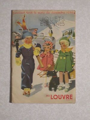 Catalogue Louvre 1936 Jouets