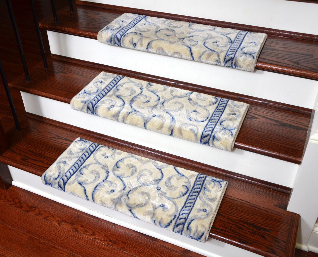 dean nonslip tape free pet friendly stair gripper bullnose carpet stair treads ivory