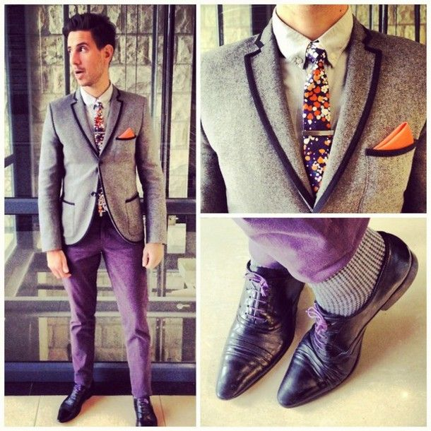 Jacket: tumblr, whatmyboyfriendwore, blazer, shoes, prom, purple ...
