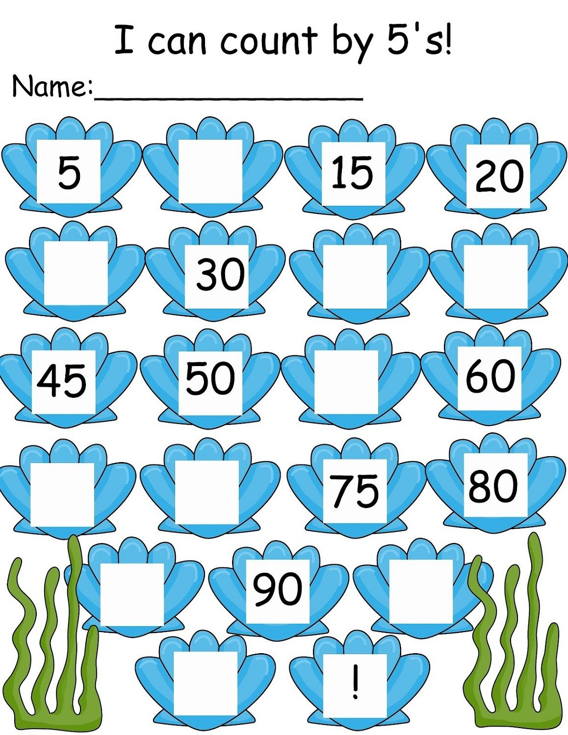 Count By 5 Worksheet