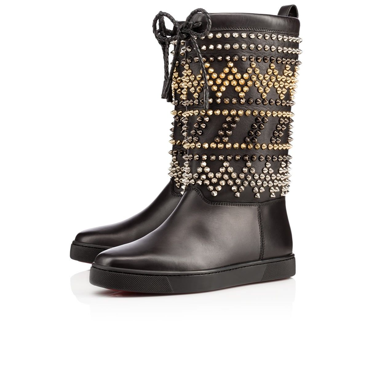 Zig et Clou Flat Black Leather Fur $2995