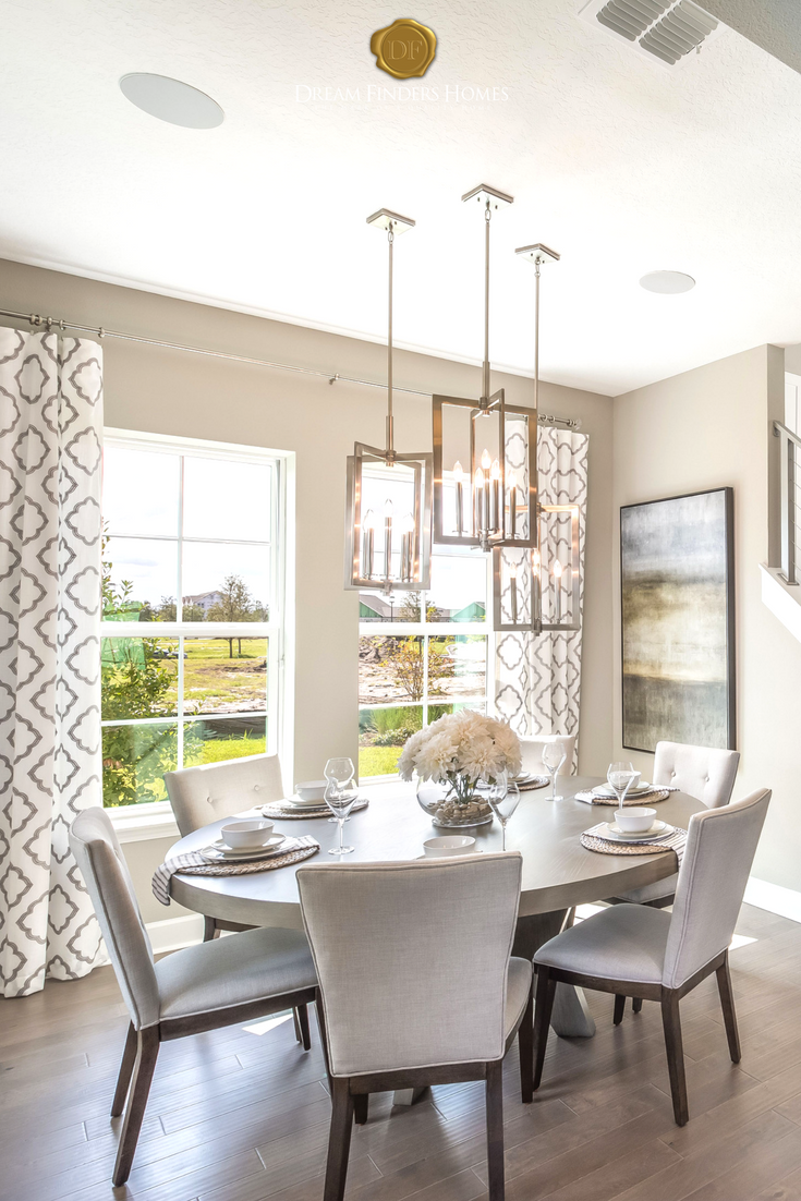 Oh I Cant Get Enough Of This Incredible Dining Room From The Lights To Round Table Its Just Amazing What Do You Think