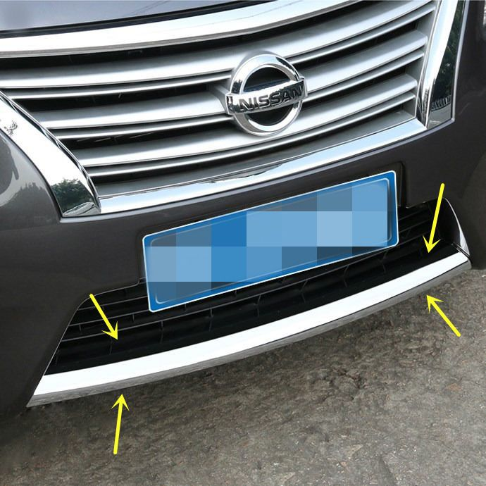 New Chrome Front Bumper Cover Trim For Nissan Sentra 2013 2014 2015 Nissan Sentra Trim Cover Front Bumper Chrome Nissan Sentra New Chrome Nissan