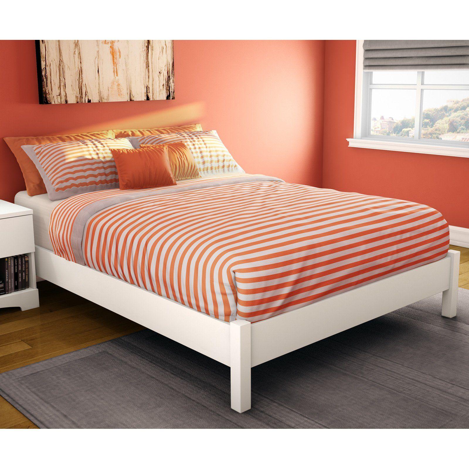 Sandbox Platform Bed White (With images) Full platform bed