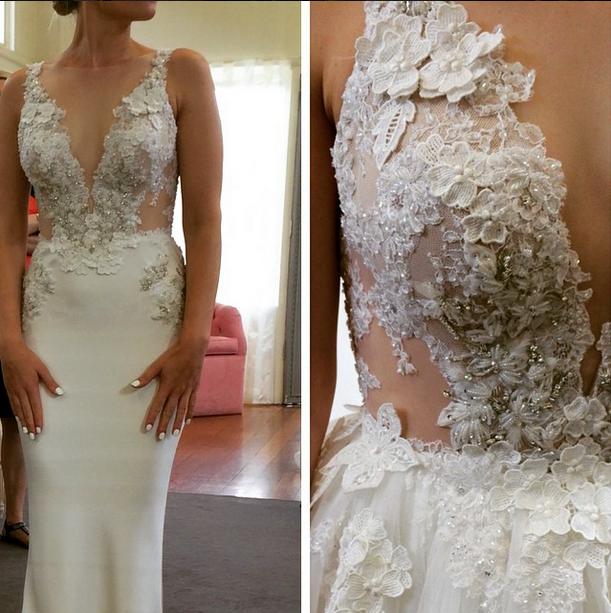 Caída de vestir 2015 e invierno 2016 de boda Tendencias 8