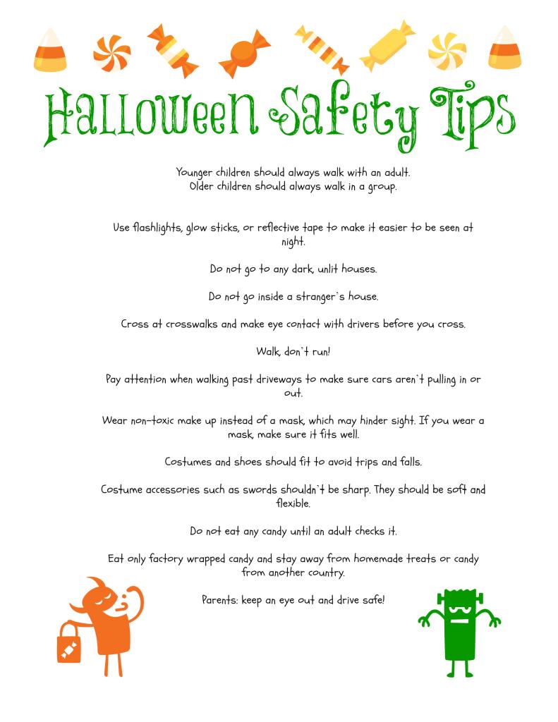 {Printable} Halloween Safety Tips Halloween safety tips