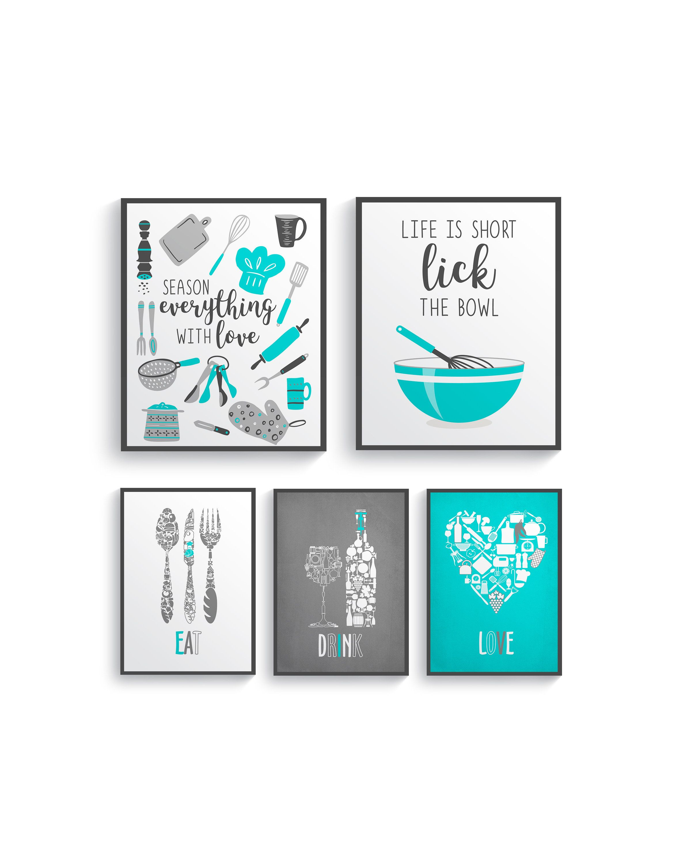 kitchen wall decor blue