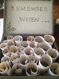 Anniversary celebration idea.....great way to let the girls get involved in making something fun for daddy....#memories #funny #sentimental