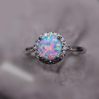 3414f6bf8210 Blue and pink opal ring · Anillo De Ópalo AzulÓpalo De RosaAnillos De Ópalo Regalos De Cumpleaños Para AmigosJoyas ...