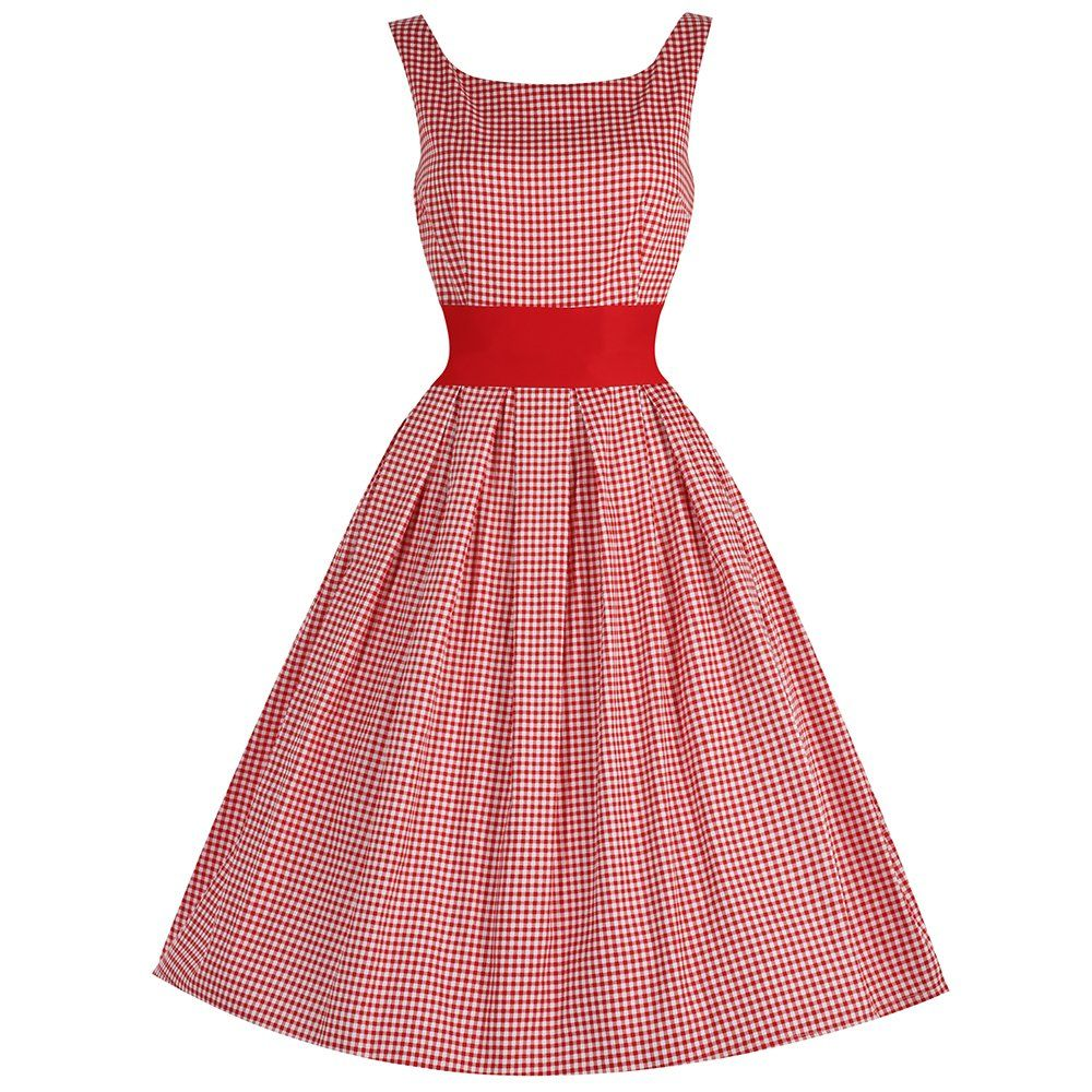 Lana  Red Gingham Party Dress.   64947b38a79