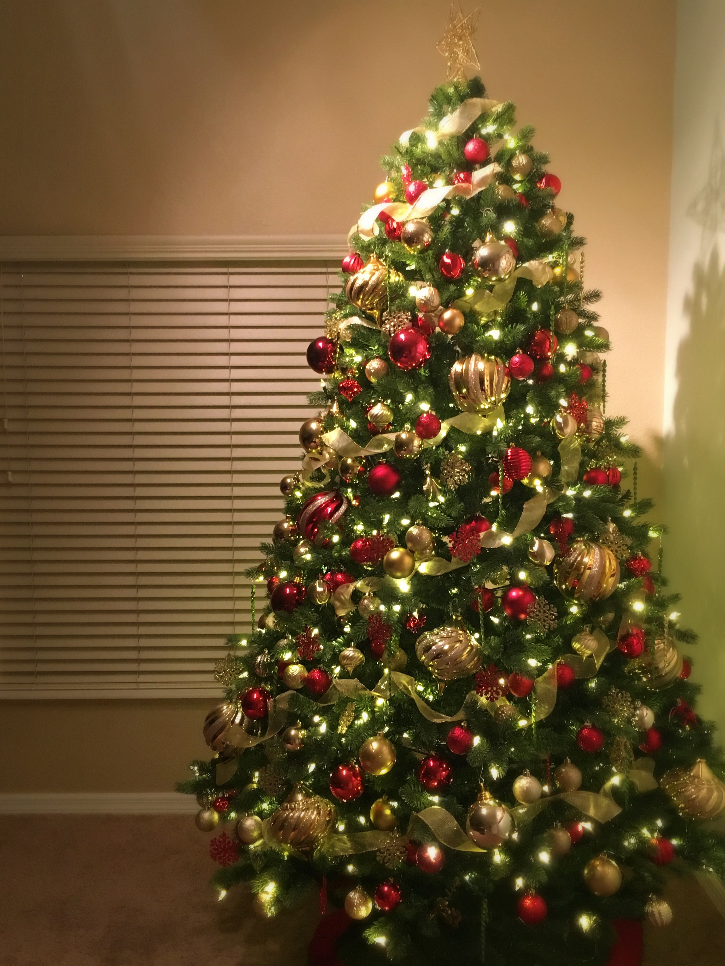 My Classic Christmas Tree - Red, Green and Gold | Holiday ...