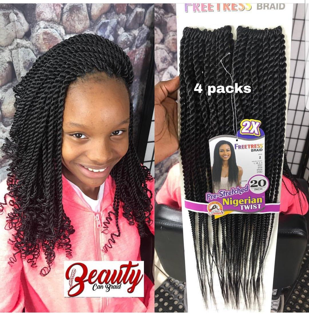 Pin By Bree Alexander On All About Hair Kids Crochet Hairstyles Crochet Braids For Kids Braids For Kids
