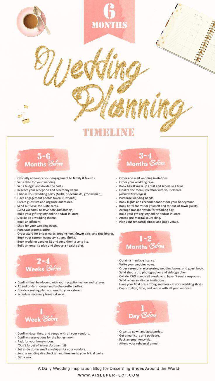 6 month wedding planning timeline | Wedding planning timeline ...