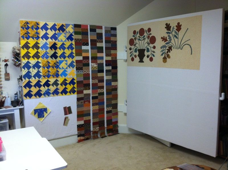 Neat idea - a hinged design wall | Sewing Room Ideas | Pinterest ...