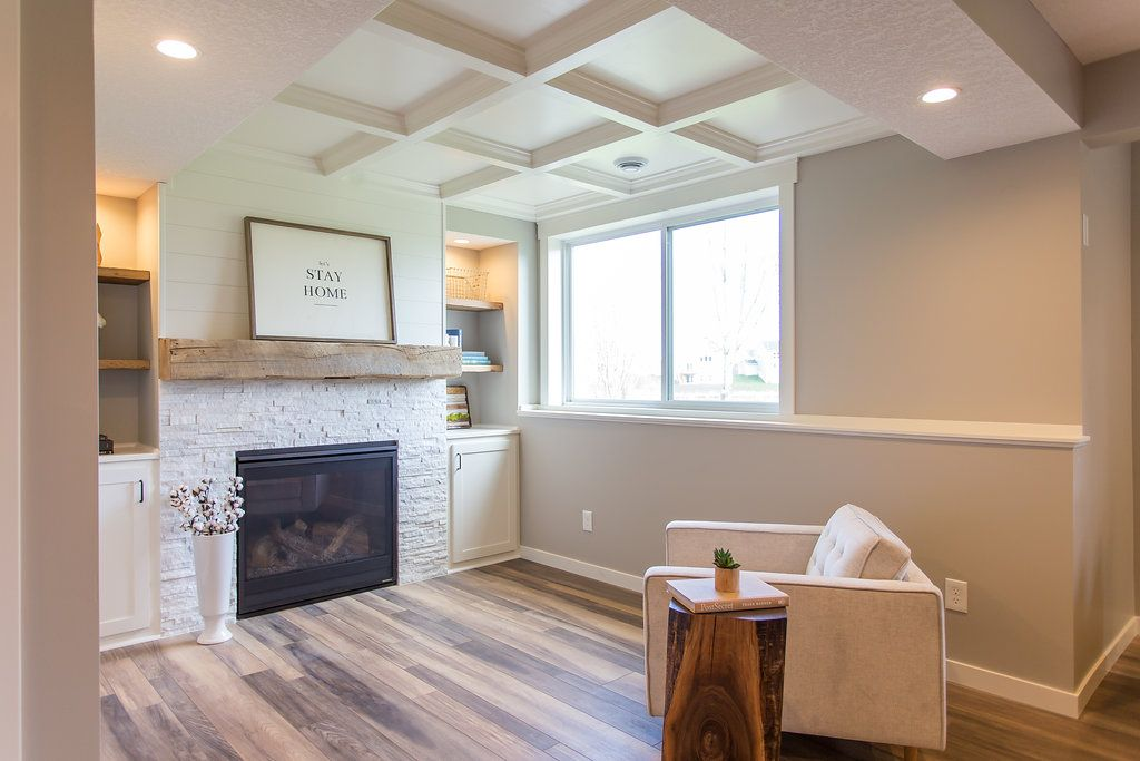 Modern Farmhouse Basement Remodel Before After Ideas Basement Remodeling Basement Design Modern Farmhouse