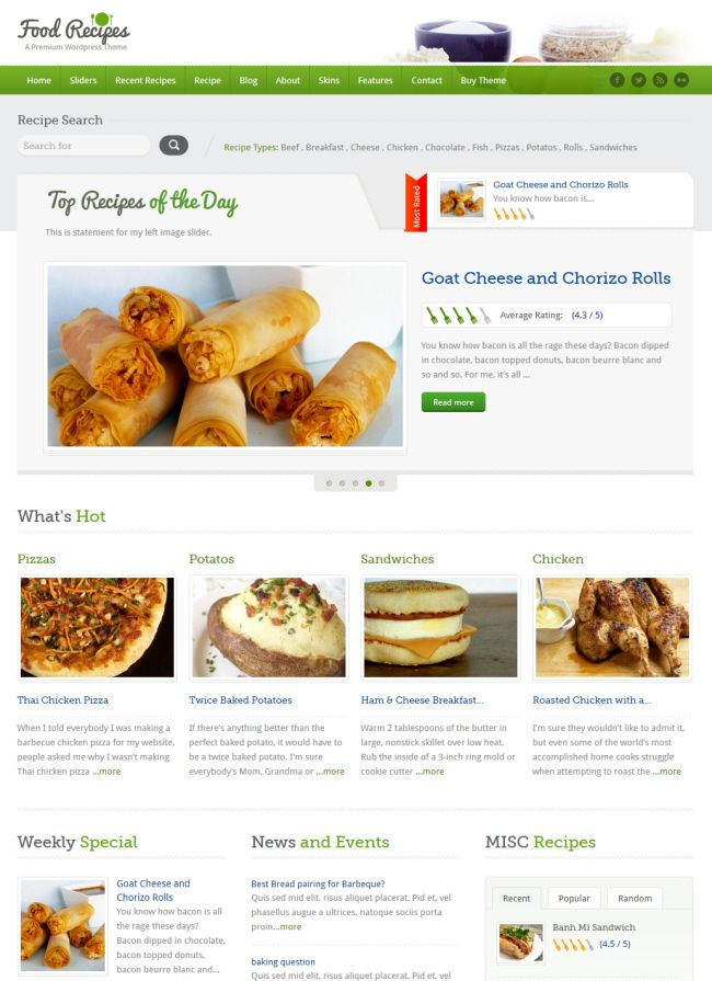 Food recipe wordpress theme makes it very easy to share cooking food recipe wordpress theme makes it very easy to share cooking knowledge with complete information and forumfinder Image collections