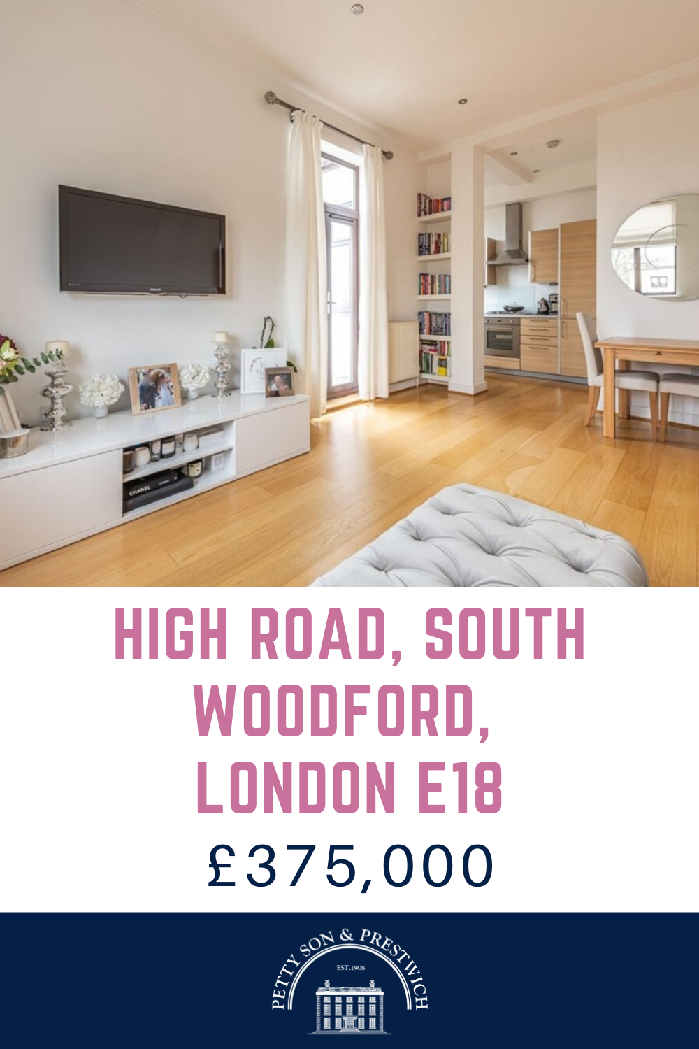 New To Market High Road Southwoodford 1 Bedroom 1 Bathroom Apartment For Sale 375 000 Petty Son And Prestwich A In 2020 Apartments For Sale London Property