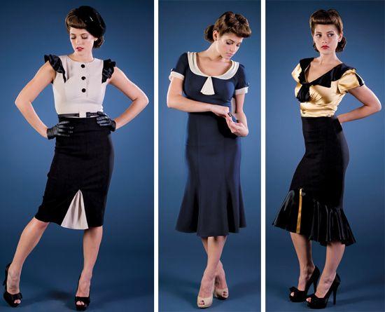 vintage style 40s dress up