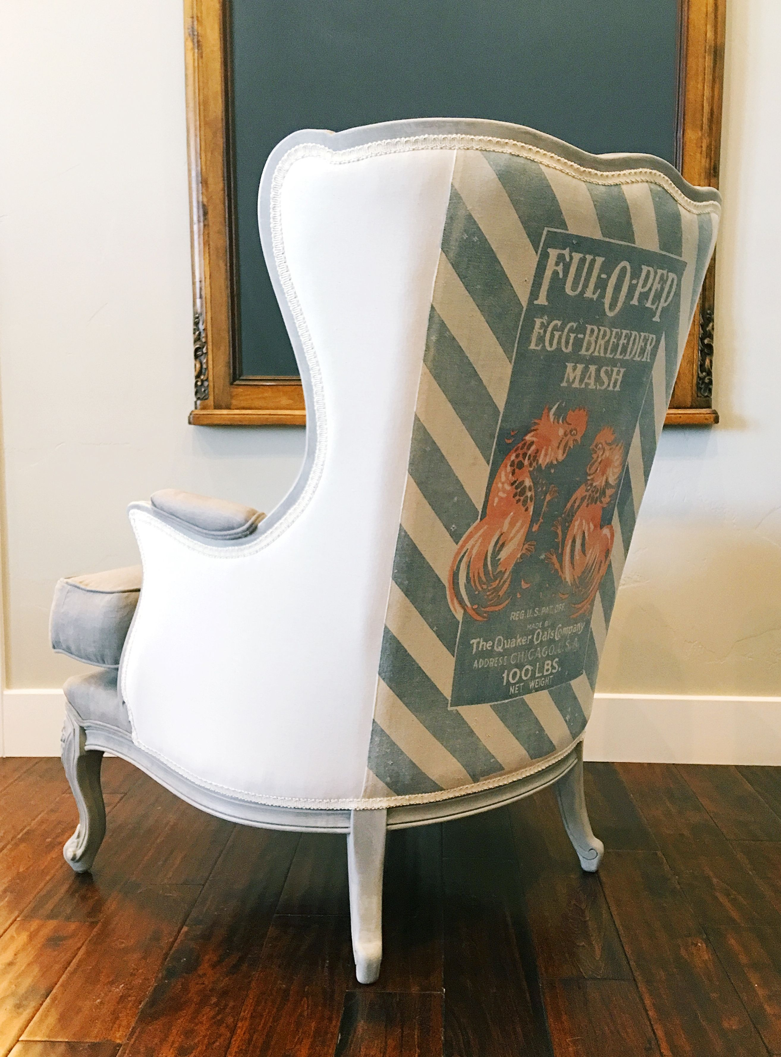 french tufted wingback chair painted in ascp and waxed for a perfect finish chair was - Tufted Wingback Chair