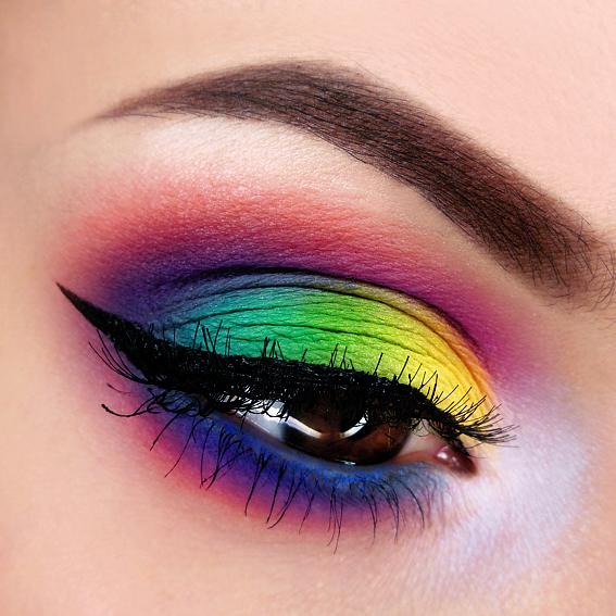Over The Rainbow Makeup Tutorial Makeup Geek Makeup Geek Eyeshadow Fantasy Makeup Rainbow Makeup