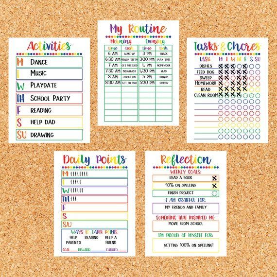 Kids Chore Chart Printable - Kids Reward Chart ...