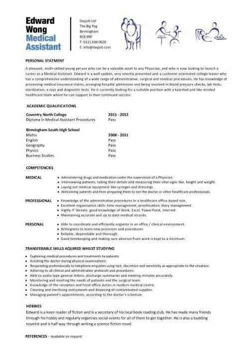 Resume Examples Medical Assistant Skills Pertaining Entry Level Medical Assistant Resume Samples Cma
