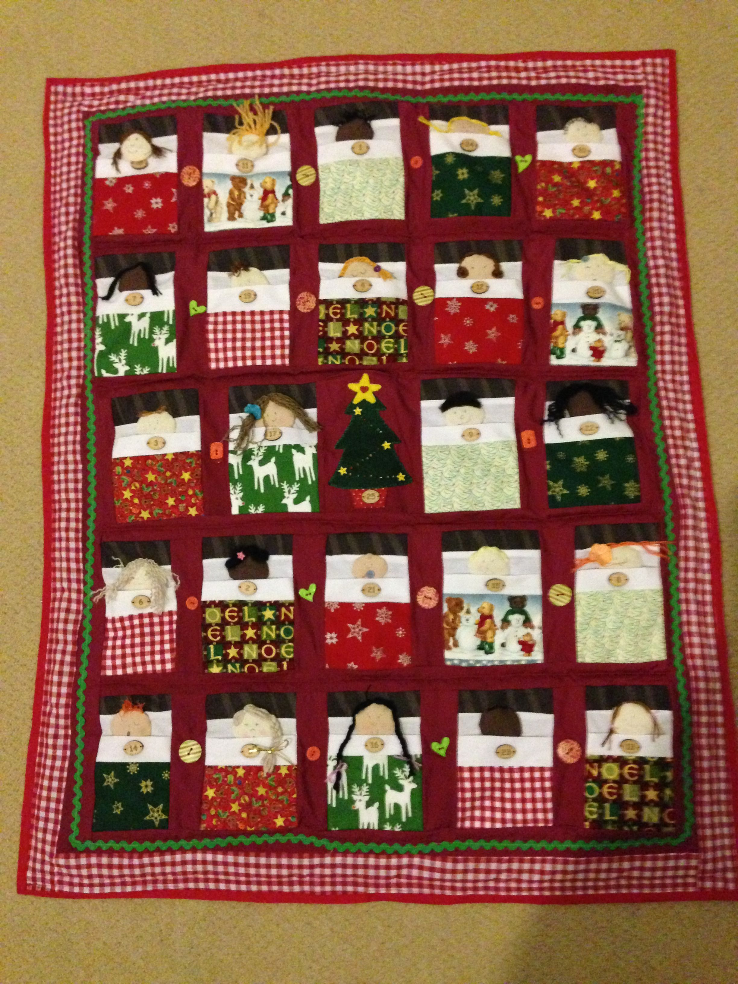 Finished at last! The peacock girls advent calendar