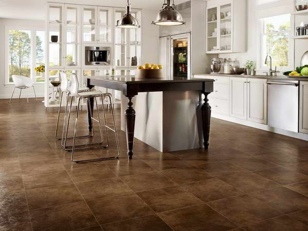 Ceramic Tile Adds A Nice Finish To A Kitchen Floor. This Floor Can Look  Similar