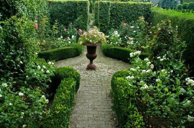landschaftsbau englischer garten gestalten ideen steinweg, Modern Dekoo