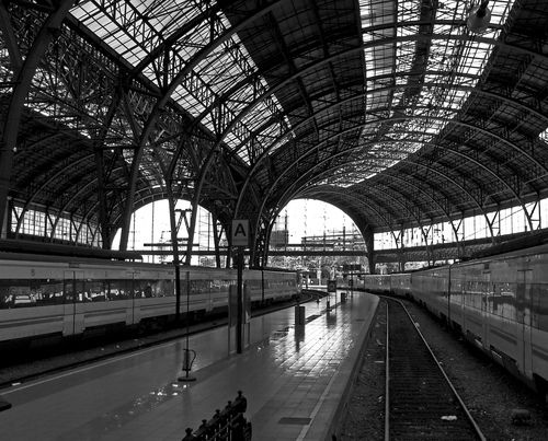 Train station in Barcelona, Spain