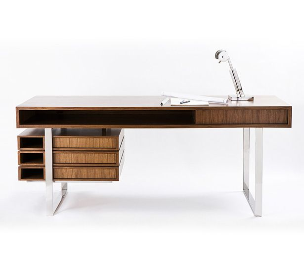 the walnut maple wood boxeo desk by cliff young ltd if its - Wood Desk Designs