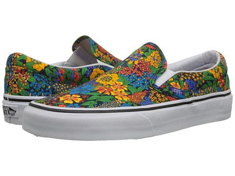 f5bd84aea0 Vans Classic Slip-On™ (Liberty) Multi Floral True White - Zappos.com Free  Shipping BOTH Ways
