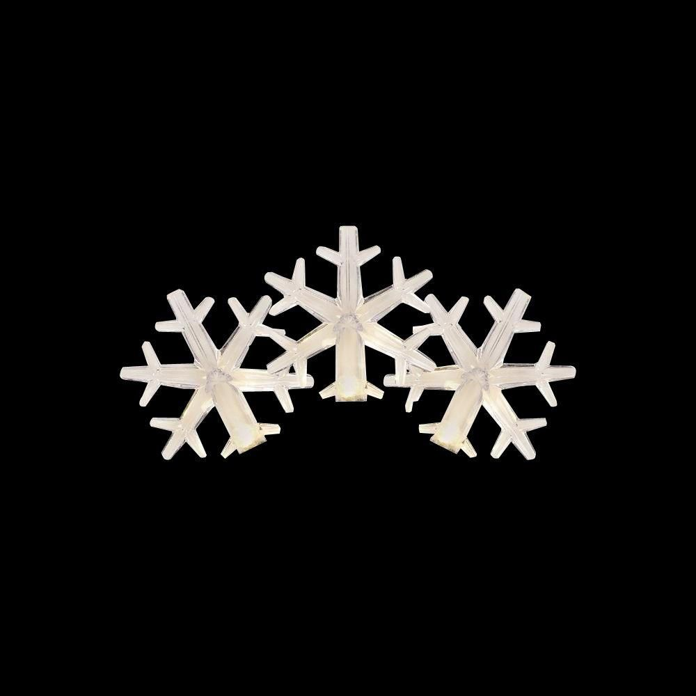 bring sparkle to your holiday design with the use of this home accents holiday led white to blue color changing snowflake light set