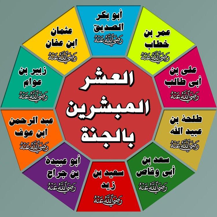 أفوجرافيكس العشر المبشرين بالجنة Islamic Information Quran Islam Quran