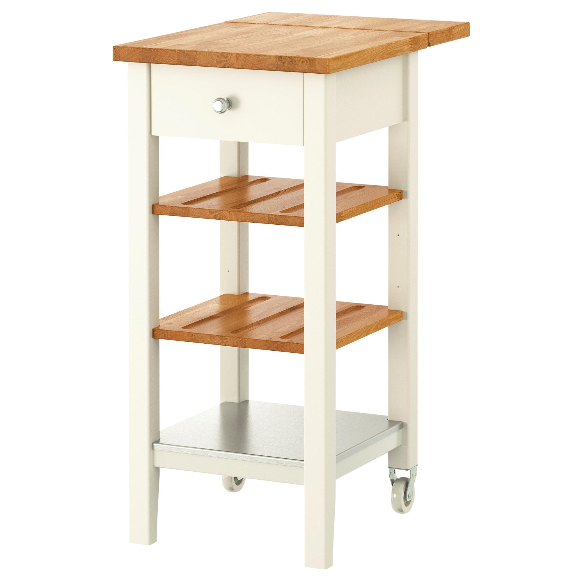 IKEA STENSTORP White, OAK Kitchen cart | Kitchen Storage ...
